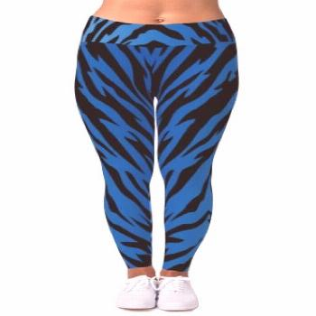Blue Tiger Stripes Leggings Blue Tiger Stripes Leggings - to wear- flaunt your curves with some fla