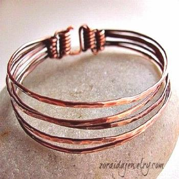 Five in One Copper Bangle — Jewelry Making Journal. Would be cool for earings