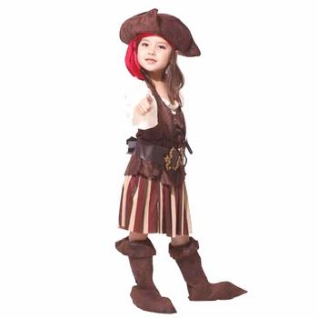 Halloween kids children girls pirate costume cosplay luxury costumes set girl halloween costumes