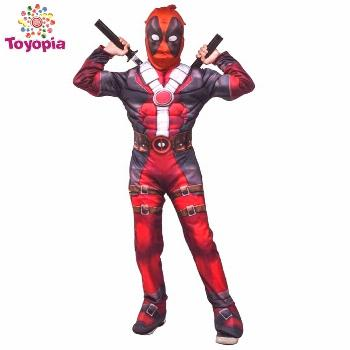Marvel Deadpool Costume Children Muscle Movie Halloween Carnival Party
