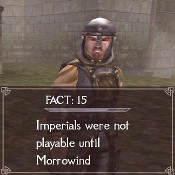 Never played an imperial, what about you?  Follow @elderscrolls.facts