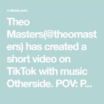 Theo Masters(@theomasters) has created a short video on TikTok with music Otherside. POV: Peter Pan
