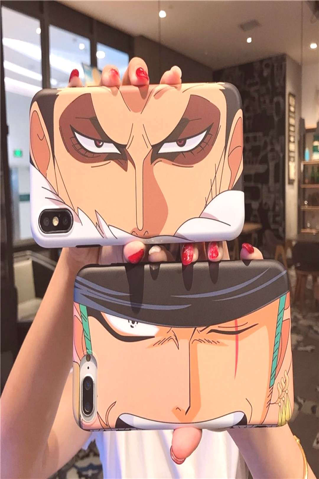 One Piece Zoro Katakuri Cover Case for iPhone Models for only $9.99 & FREE Shipping Repin to your B