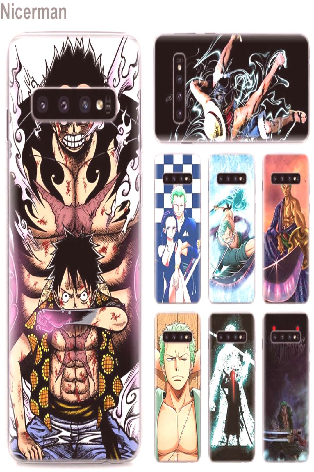 One Piece zoro Luffy Cover Cases for Samsung Galaxy Models for only $9.99 & FREE Shipping Repin to